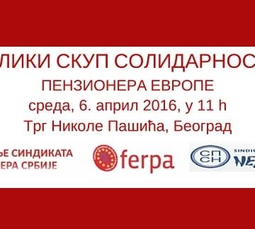 Poziv na veliki skup solidarnosti penzionera Evrope