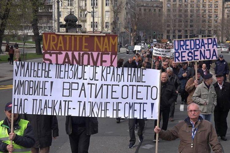 """Protest """"Pravda za vojne penzionere"""""""