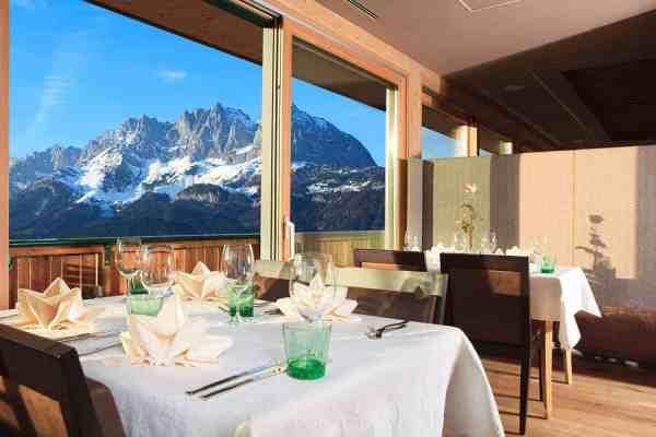 Restaurant mit freiem Blick auf den Wilden Kaiser