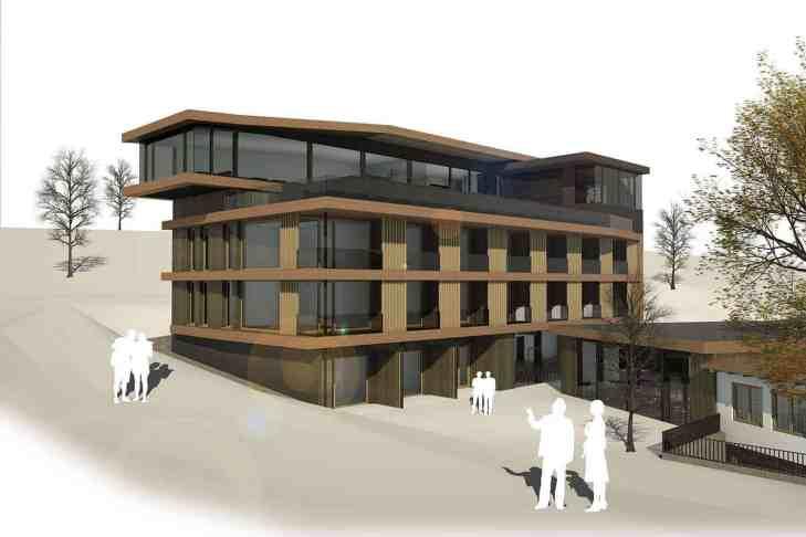17 Zimmer, 2 Seminarräume, Infinity-Pool, Panorama-Sauna, Fitnessraum im 3.Stock, Skiverleih & Skischule