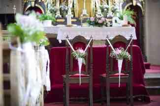 Dekoration in der Kirche