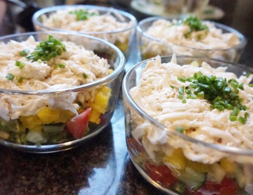 Lunchtime Food Prep | Crab Tower Salads