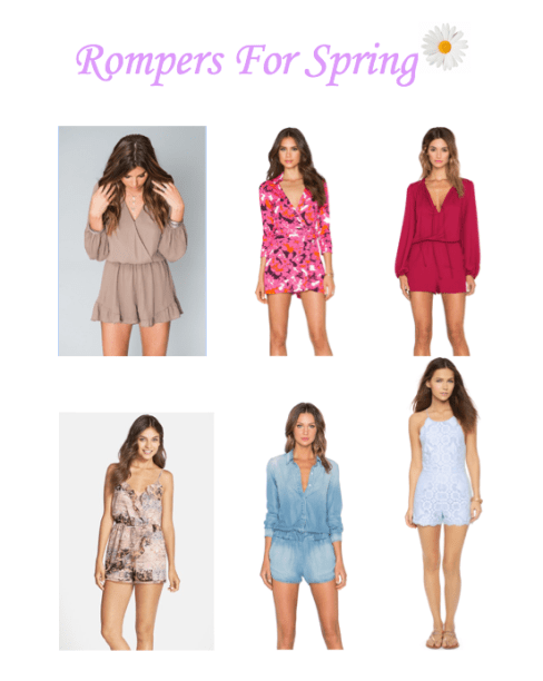 Rompers for spring