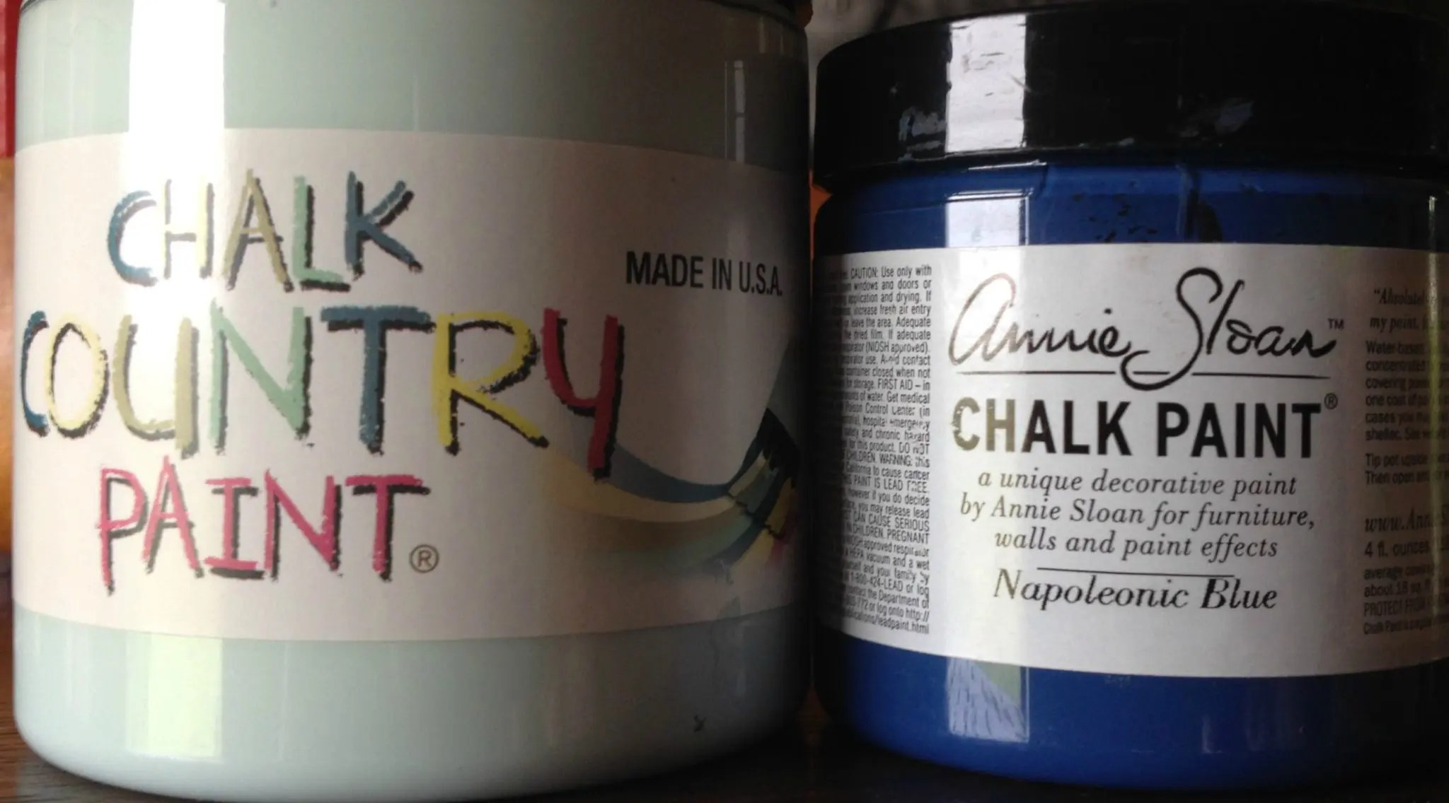 Comparing Chalk Country Paint and Annie Sloan Chalk Paint