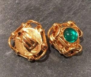 Green 80's earrings