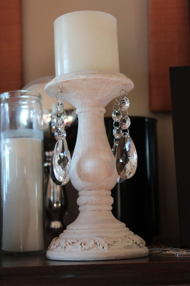 Finished candlestick farmhouse glam