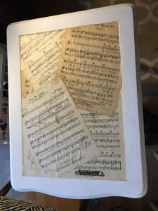 The sheet music top