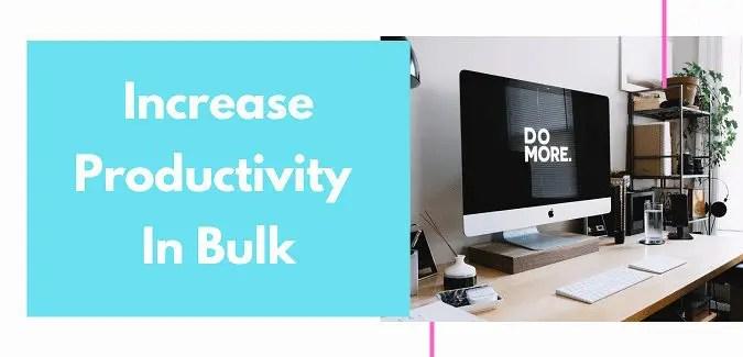 Increase Your Productivity Work In Bulk!