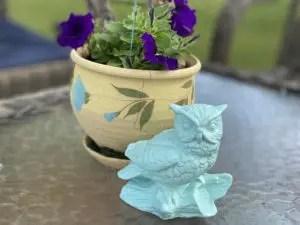 Spray Painted Ceramic Owl