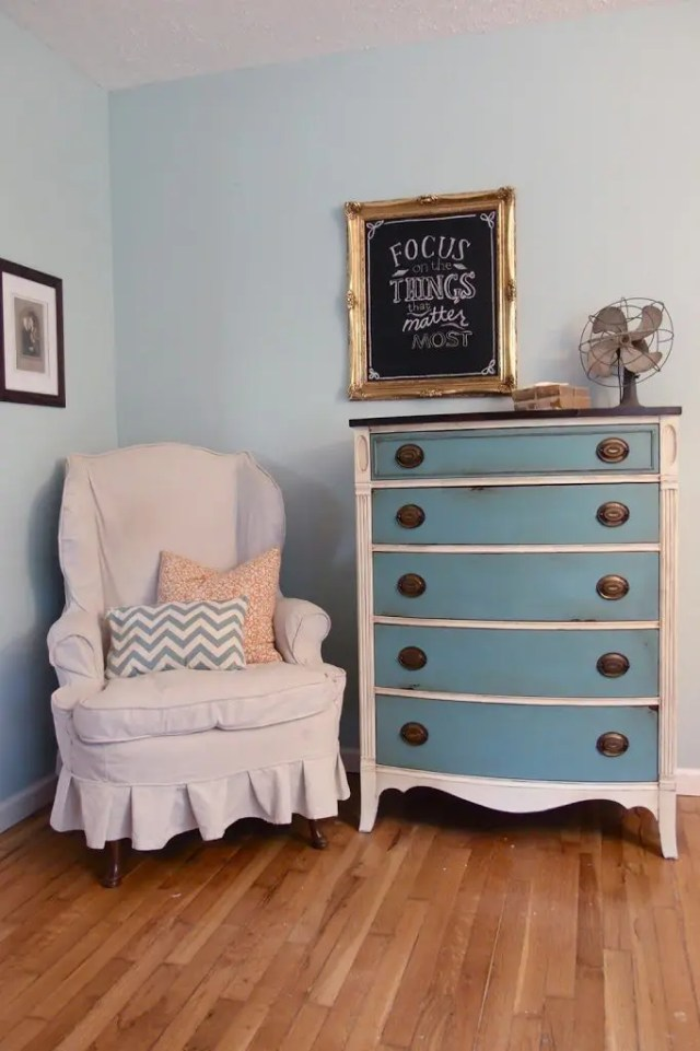 Shades of Blue Dresser