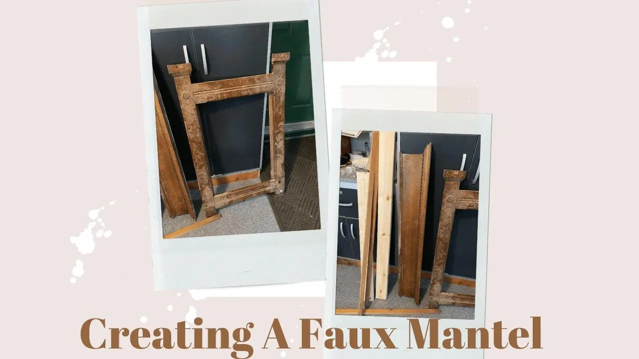 Building A Faux Mantel From an Old Mirror Frame
