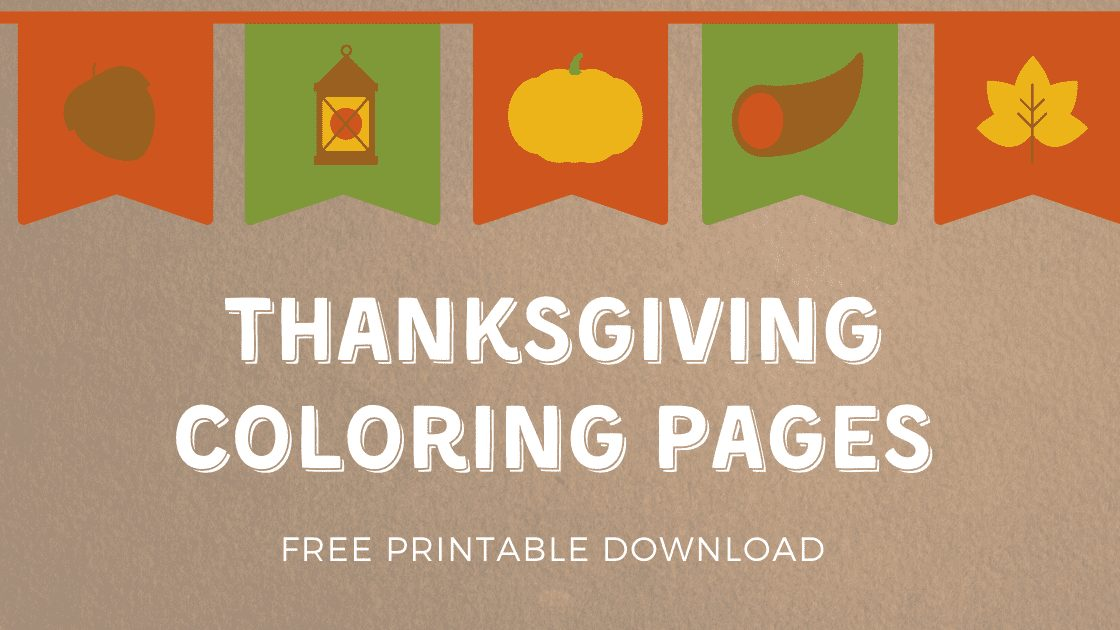 Thanksgiving Coloring Pages – Free Printable For Your Kids
