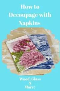 How to Decoupage with Napkins // napkin decor // dinner napkins diy // crafts diy // office decor ideas home // diy office decor
