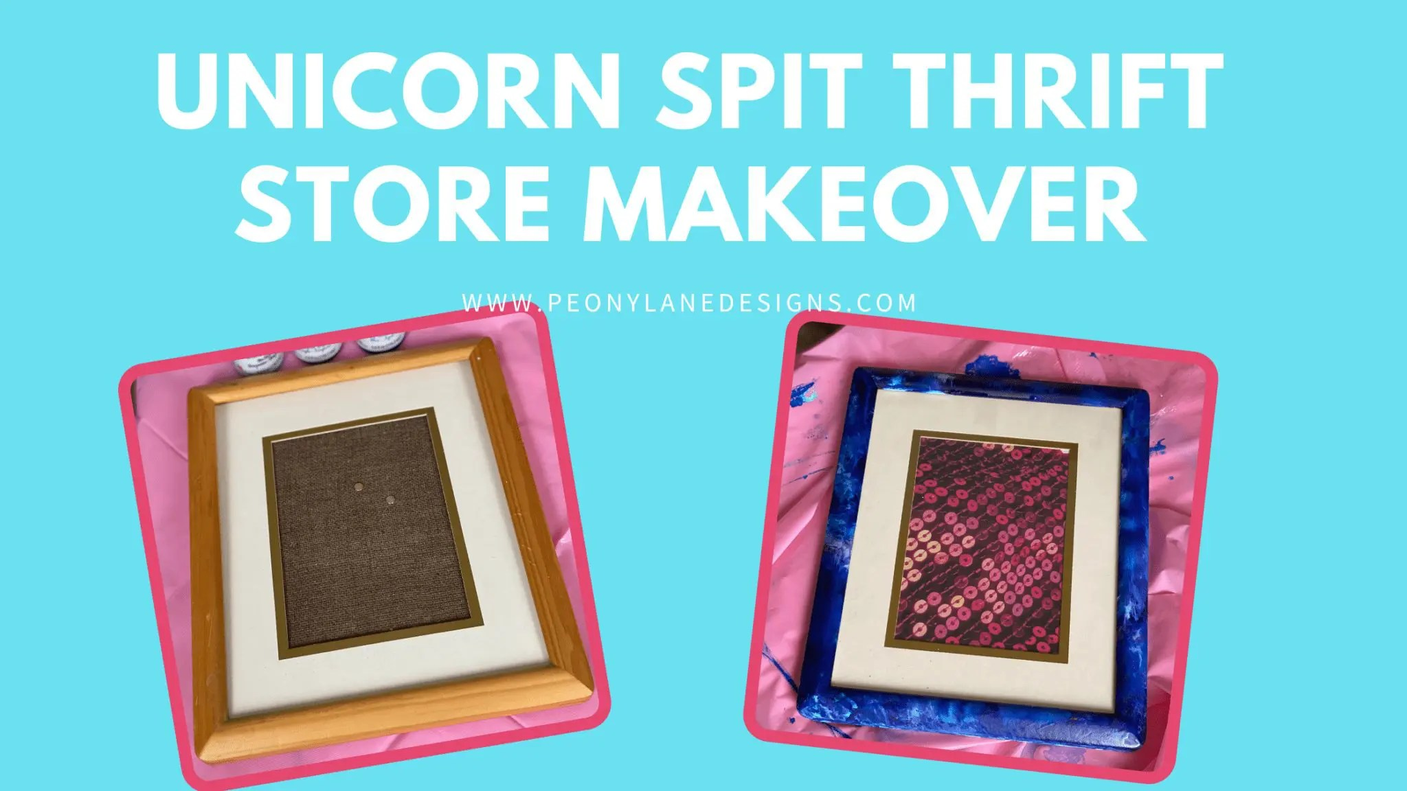 Unicorn Spit Project Thrift Store Frame Makeover