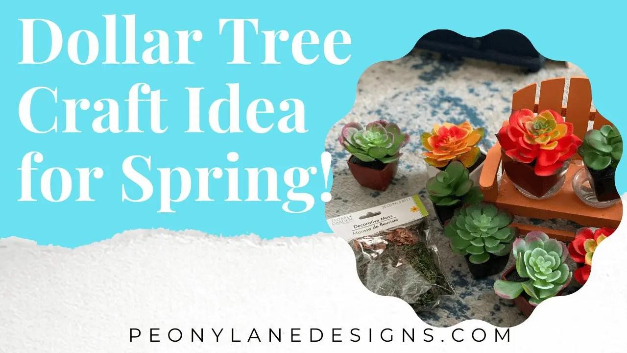 Dollar Tree Craft Idea for Spring!