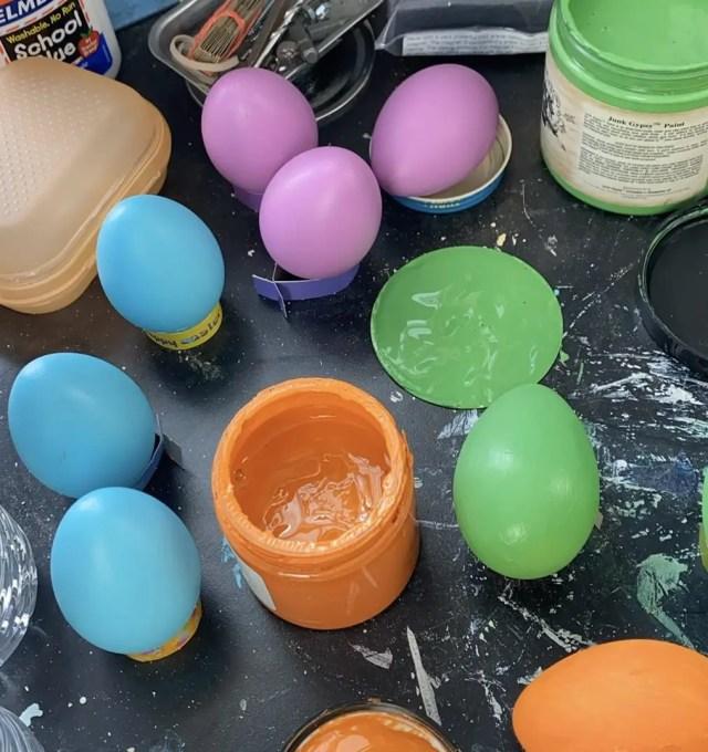 DIY Easter Eggs Need Painting