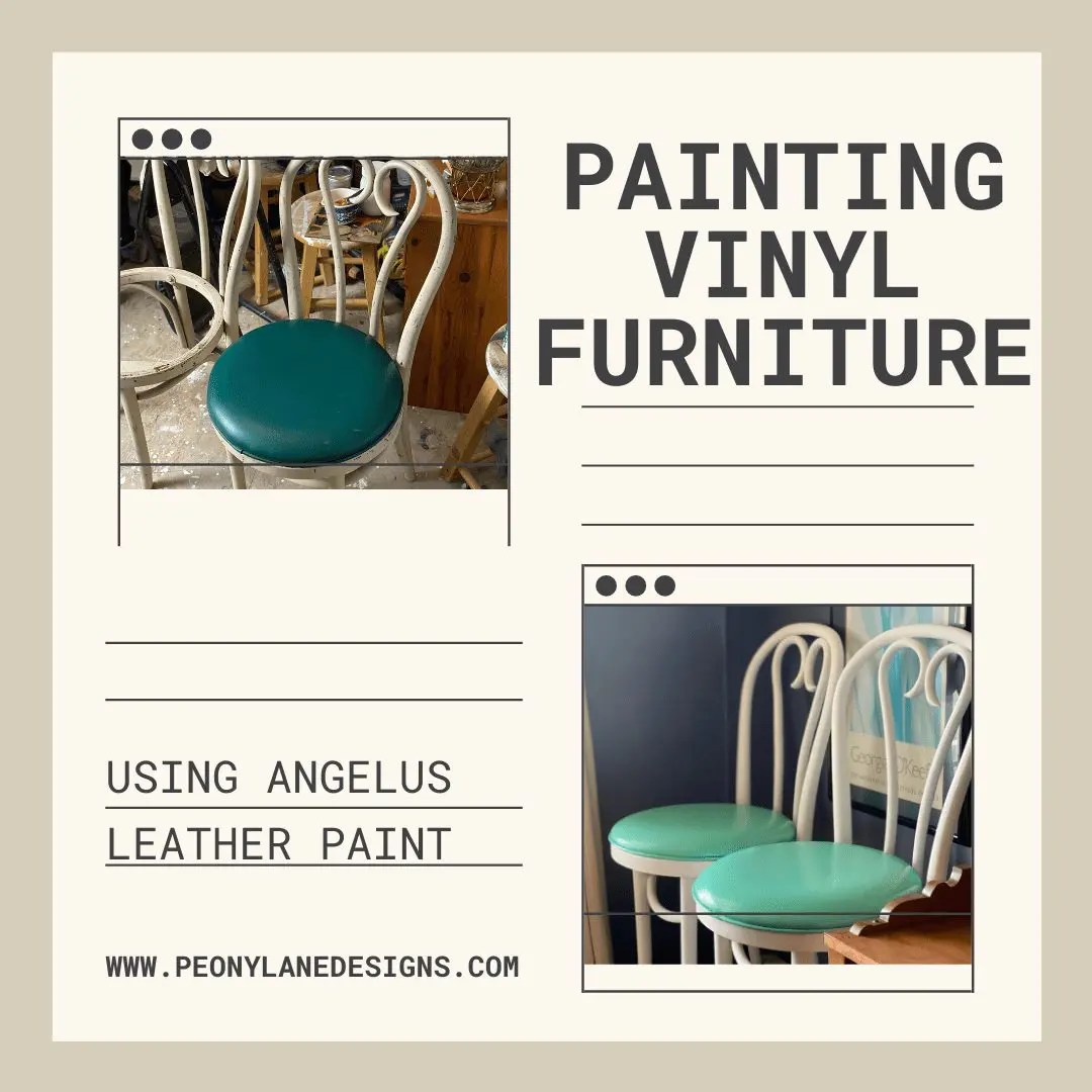 Painting Vinyl Furniture with Angelus Leather Paint