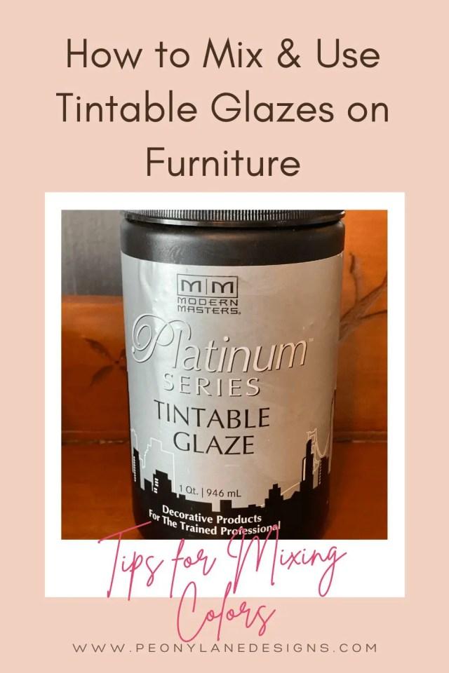 tintable glazes for furniture
