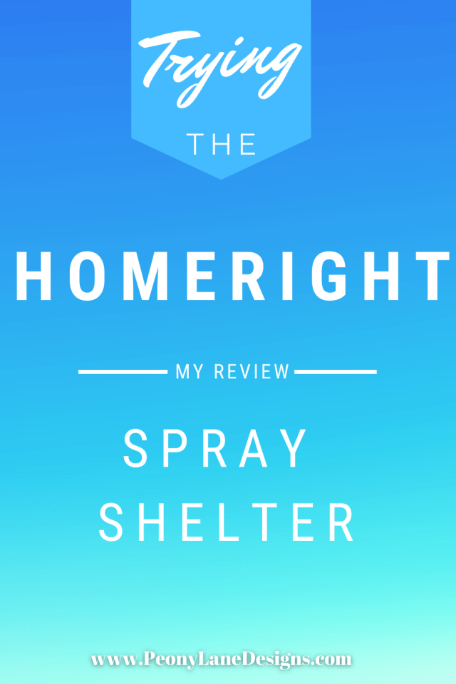 Homeright Spray Shelter // spray painting // spray shelter review // paint shelter // paint booth // home spray booth