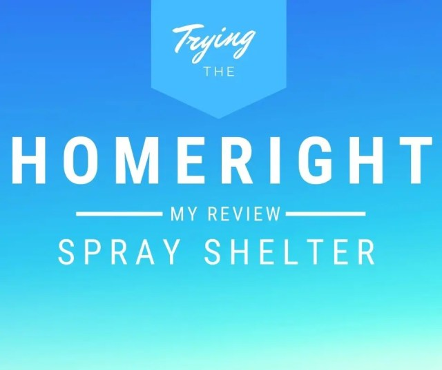 homeright spray shelter review