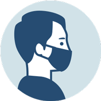 Covid 19 Icon - Wear a mask - Maskenpflicht m bei People-Pictures