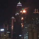 Video: Fire hits Torch tower in Dubai Marina