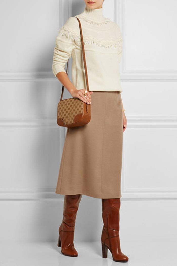 Wear to Work: Midi Skirt, Agnona cashmere midi skirt
