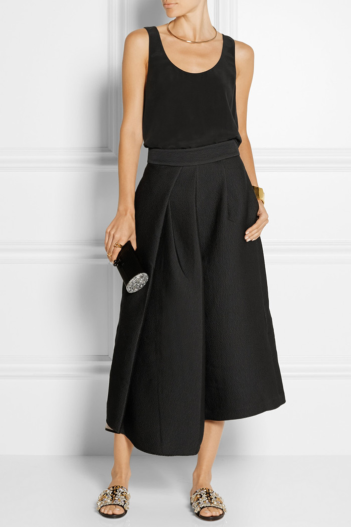 Wear to Work: Culottes, Tibi's culottes sit high on the waist and are pleated through the front for a flattering shape that suits anyone