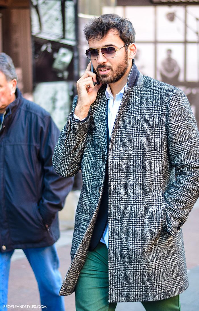 Casual Winter Outift: Men Wearing Overcoats