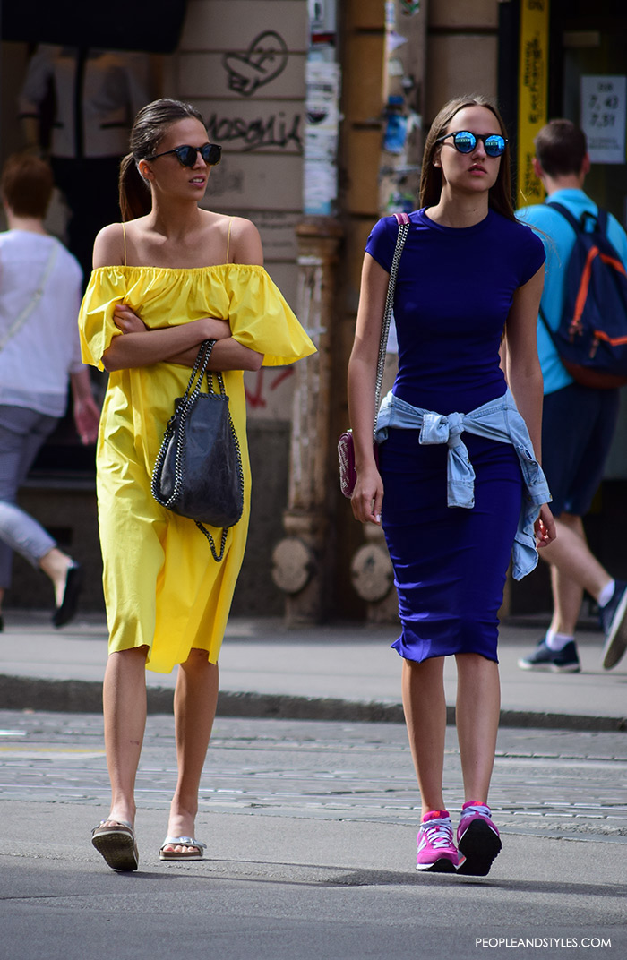 Street Style Trend: How to Wear Off the Shoulder by PeopleandStyles.com