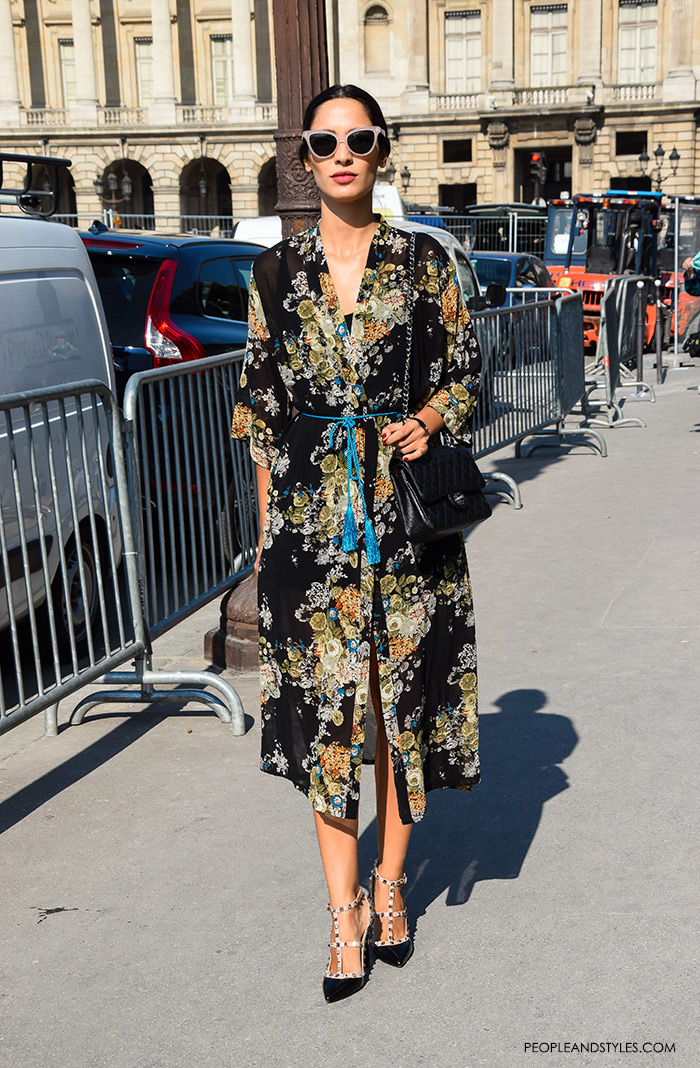 Floral Chic looks on the street pictures