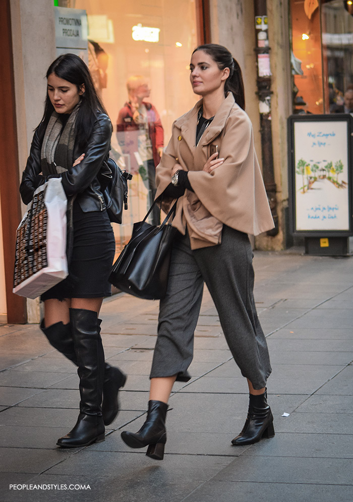 How to Wear Culottes - Street Style Outfit Ideas, People and Style s, Elegant cape, ankle boots and culottes, top fashion blogs, style outfit inspirations