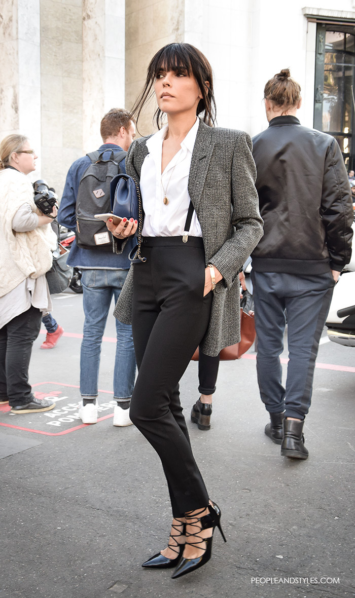 Grey Blazer - Modern Working Girl Wardrobe Staple – Fashion Trends and Street Style - People & Styles