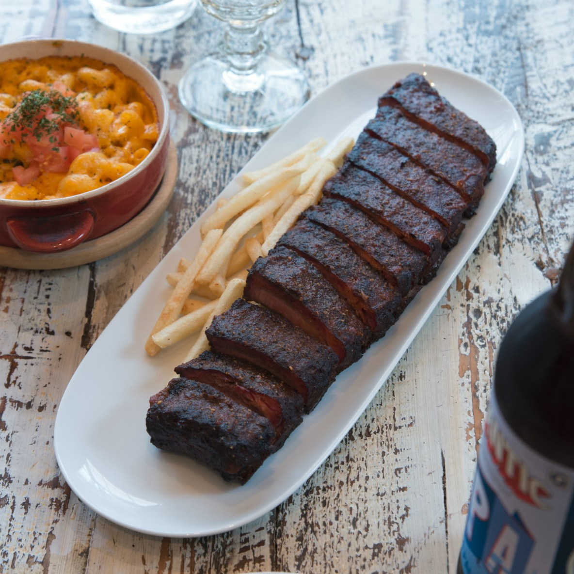 Ribs, brisket and craft beer at an accidental chef's laid-back barbecue