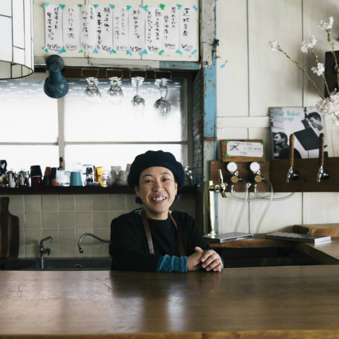 Intimate counter restaurant serving Japanese home cooking