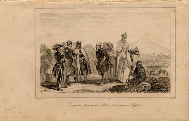 Print of Armenian emigrants in Russia 1838