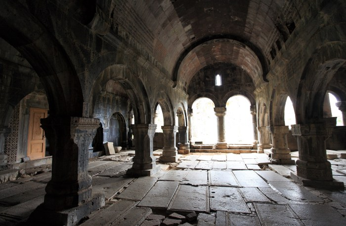 Interior of a medieval Armenian Church
