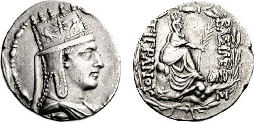 Coin of Tigranes the Great, 95-66 BC