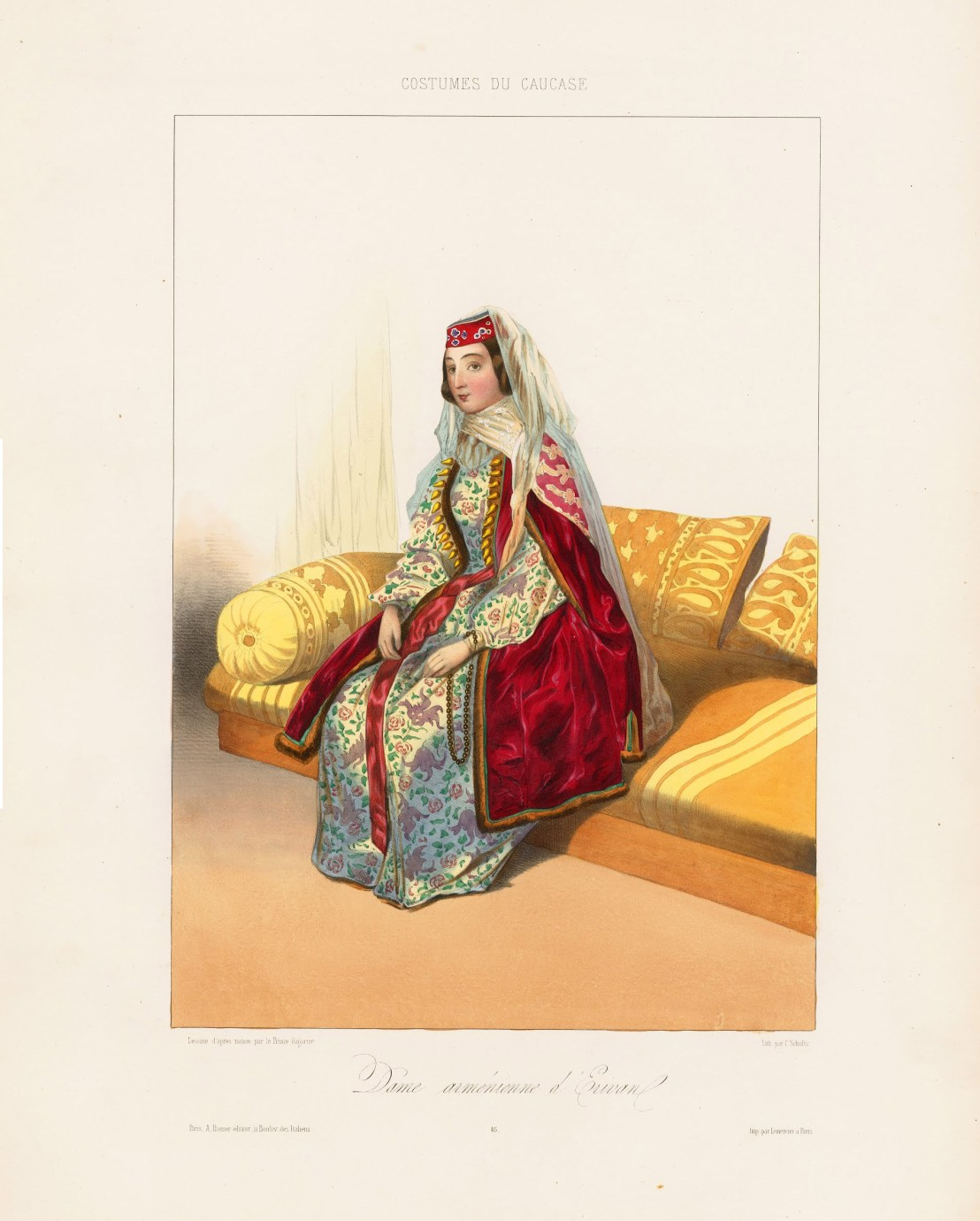 A woman from Yerevan by Grigory Gagarin,1850-1855