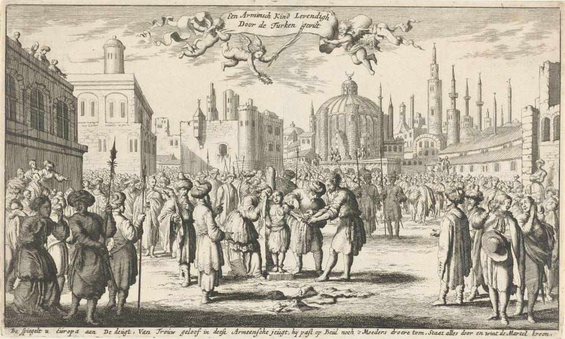 Armenian child skinned alive by the Turk, Jan Luyken, 1681
