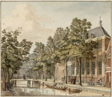 The Armenian Church at the Krom Boomssloot 20-22, Amsterdam – Jan de Beijer (1703-1780)