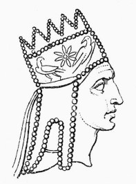 Armenian Tiara as depicted on the coins of Tigranes the Great