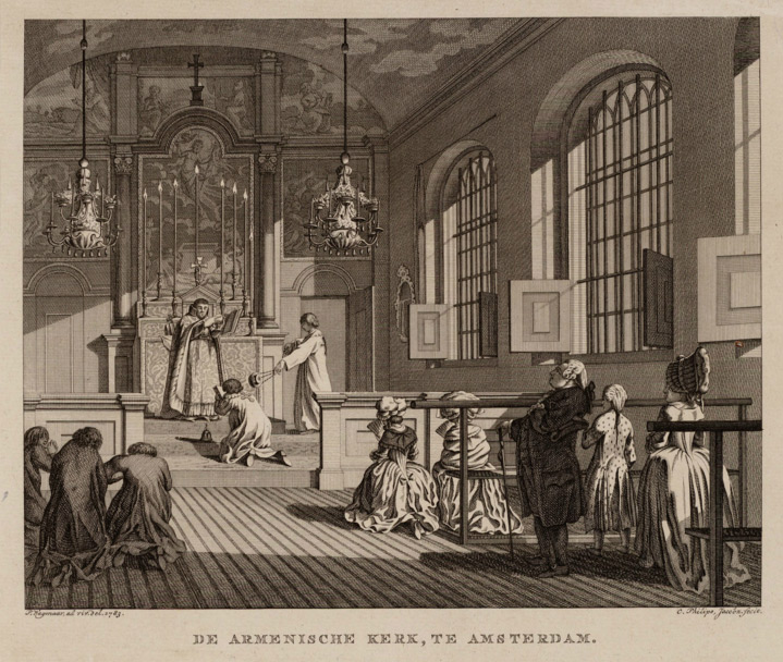 Interior of the Armenian Church of Amsterdam 1714