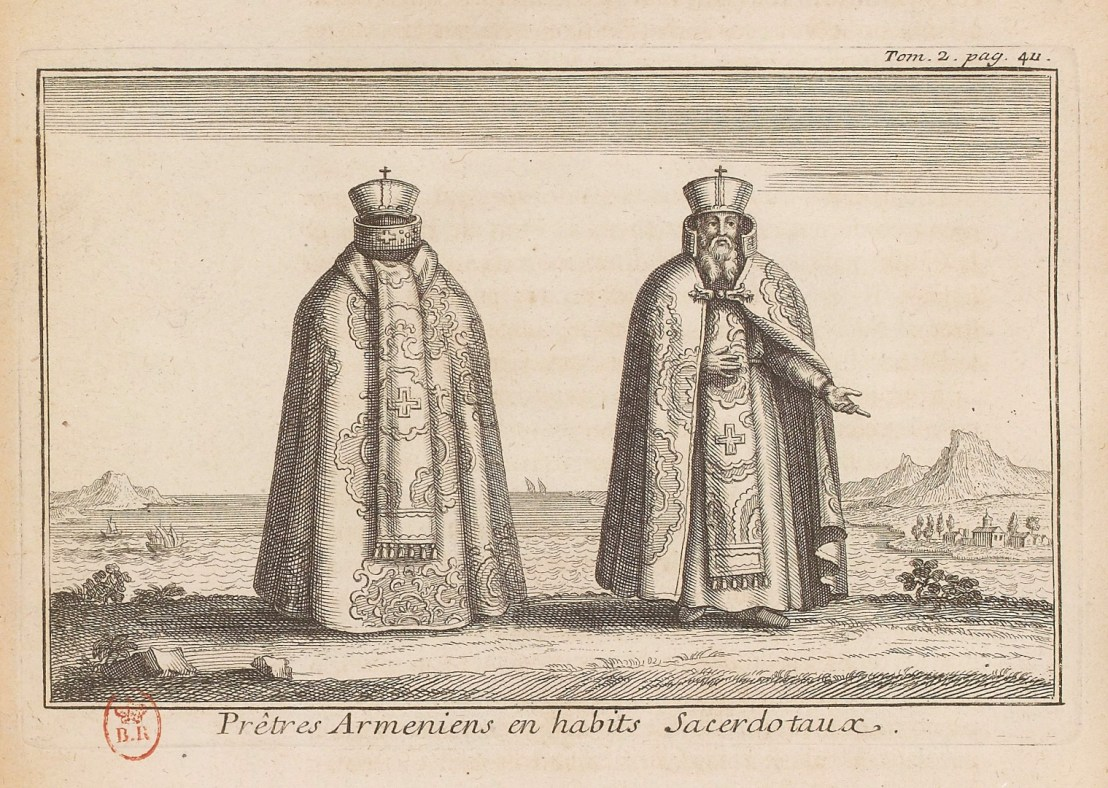 Illustration of Armenian priests by  Joseph Pitton de Tournefort (1656-1708)