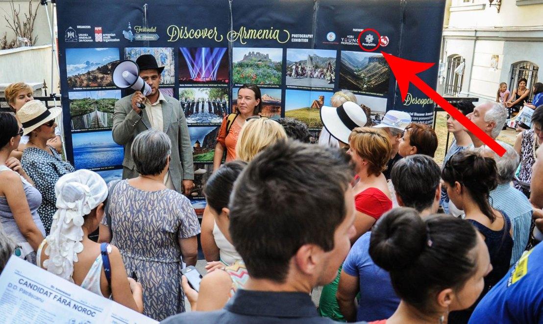 PeopleOfAr logo at the Armenian Street Festival photo competition in Romania.