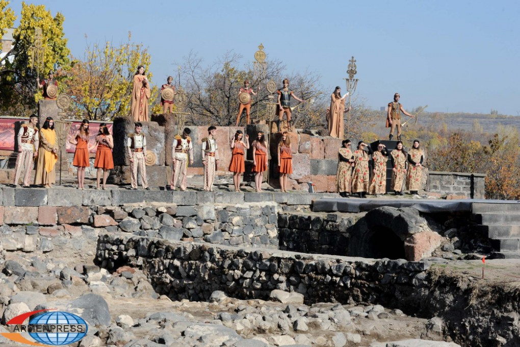 Ceremony at the burial site of Armenian kings