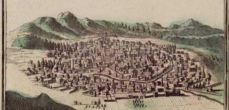 Erzerum illustrated by Johann Baptist Homann (1663-1724)