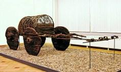 Found near Lake Sevan, Armenia Ancient wheel barrel. 2500 BCE