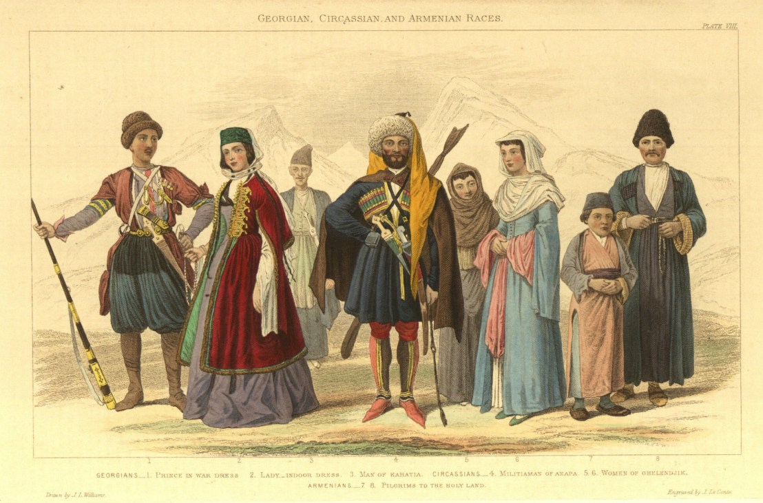Georgian, Circassians, Armenians