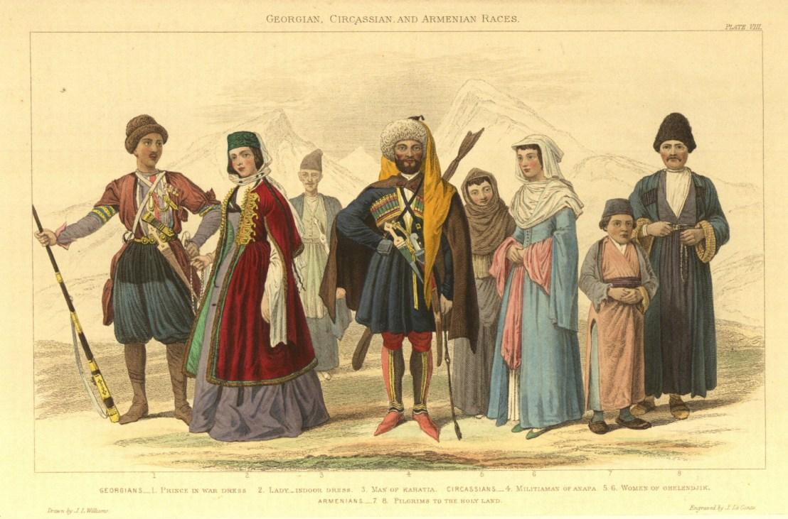 Georgian, Circassians, Armenians